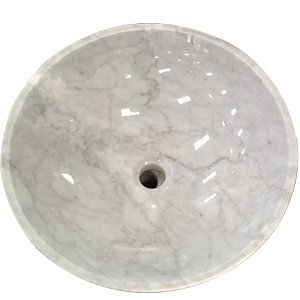 Carrara White Marble Stone Used Bathroom Sink